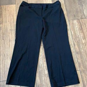 Lane Bryant Solid Black Wide Leg Pants Zipper 18P